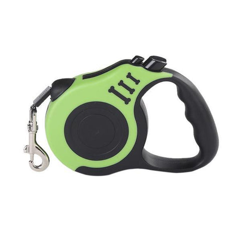 Image of green Retractable dog leash