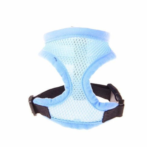 Light blue mesh dog harness
