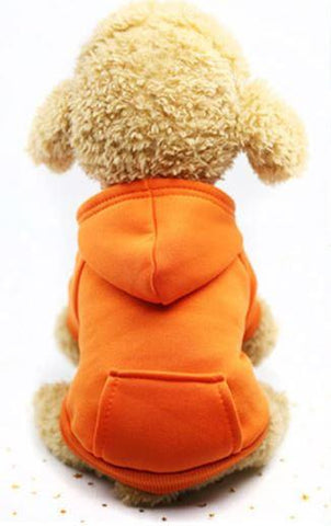 Orange hoodie dog sweater