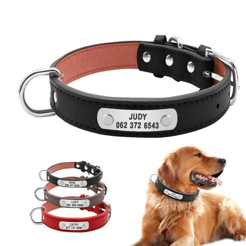 Image of Leather Dog Collar