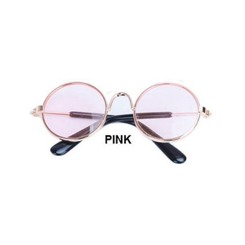 Image of Cute pink dog sun glasses