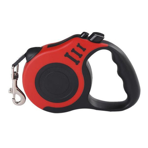 Image of red Retractable dog leash