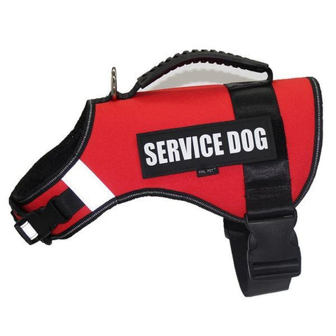 Red service dog harness vest