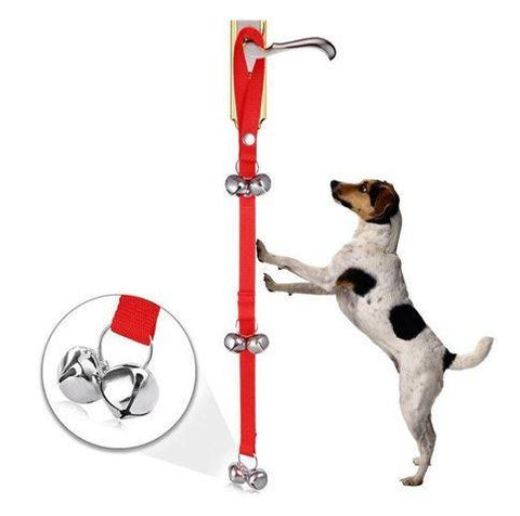 Red training dog bell