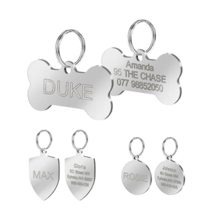 Stainless steel custom dog id tags