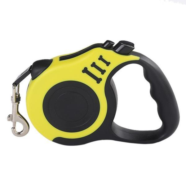 yellow Retractable dog leash