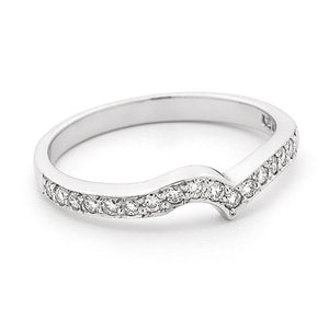 Fitted diamond set wedding band TDW 0.25ct