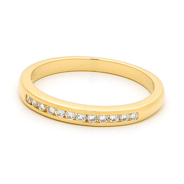Channel set wedding band with TDW 0.18ct