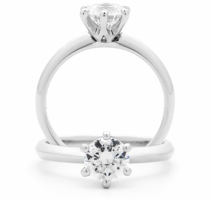 White Gold Solitaire Diamond Engagement Ring 0.70ct