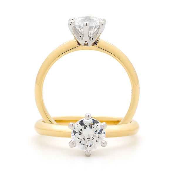Claw set Engagement Ring TDW 0.75ct