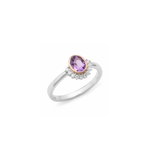 Load image into Gallery viewer, Amethyst And Half Halo Dress Ring