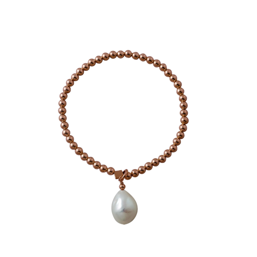 Stretchy Bracelet With Baroque Pearl