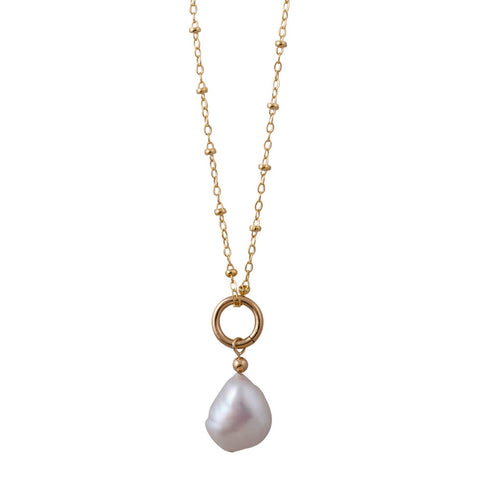 Rosario Necklace With Baroque Pearl
