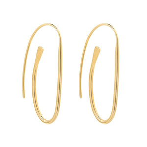 Paperclip Gold Earring