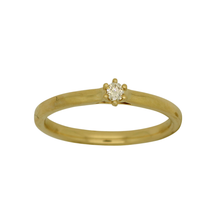 Load image into Gallery viewer, Dainty Diamond Gold Ring set in claws