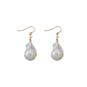 Large Baroque Pearl Earrings
