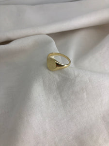 Gold Oval Signet Ring Medium style