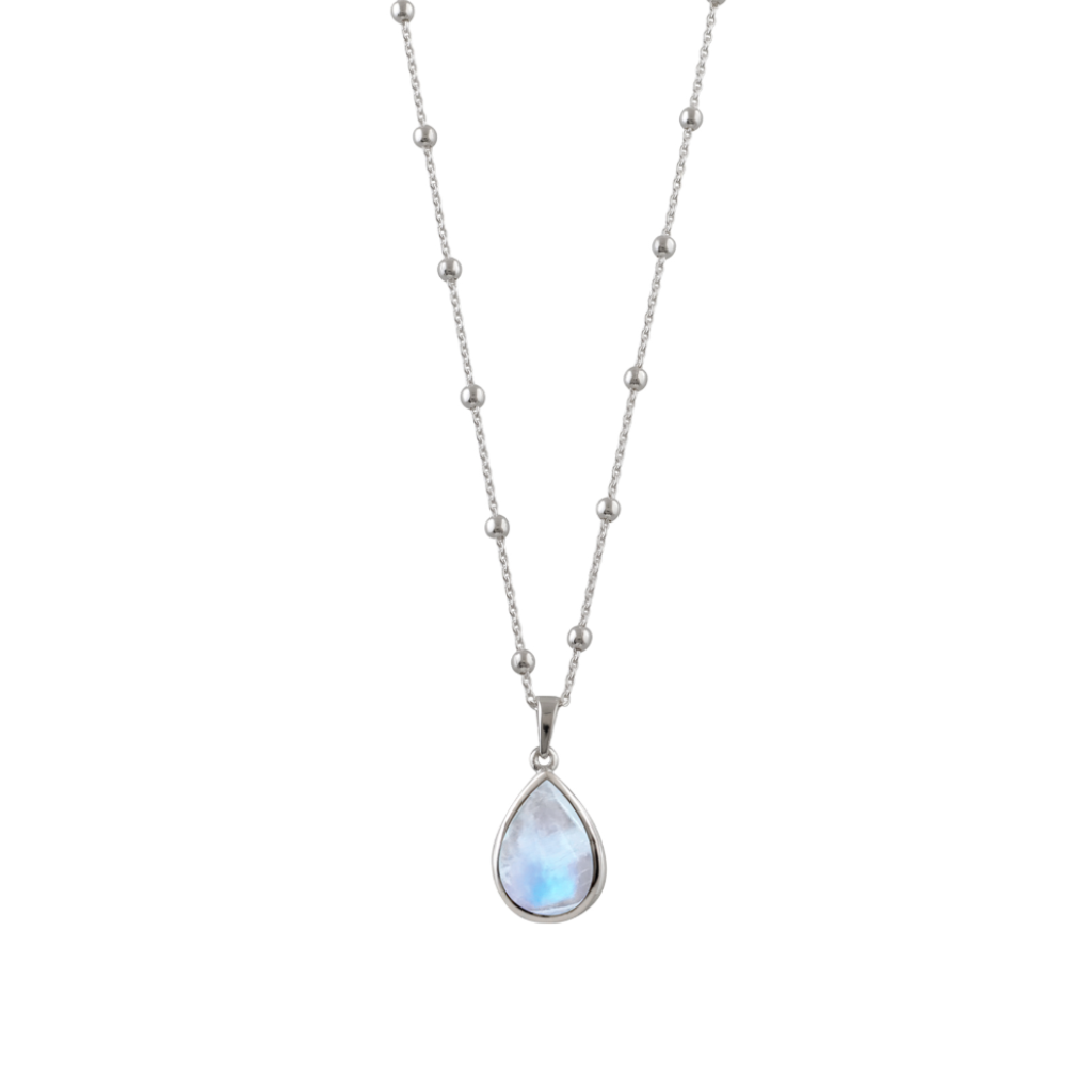 Rosario Necklace With Pear Moonstone