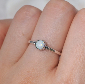 Urthona Opal Ring in Silver