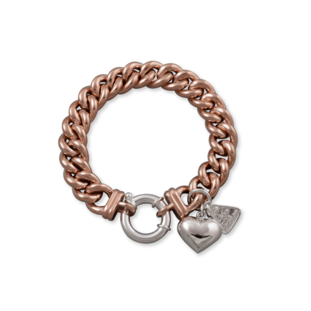 Small Mama Bracelet With Puffy Heart