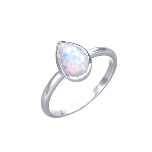 Pear Czelline Opal Ring