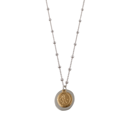 Rosario Necklace With St Christopher
