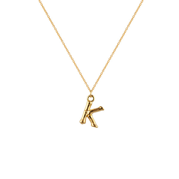 Initial Necklace K