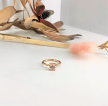 Load image into Gallery viewer, Classic 4 claw Oval Morganite Ring