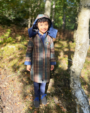 Betty Bonhard reversible waxed cotton trench-coat for children