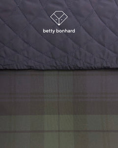Betty Bonhard reversible waxed cotton bomber-jacket for women
