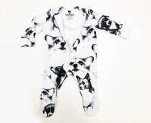 Load image into Gallery viewer, Zipper Corgi Sketches Print Sleepsuit