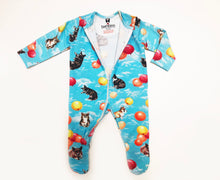 Load image into Gallery viewer, Zipper Corgi Balloons Print Sleepsuit
