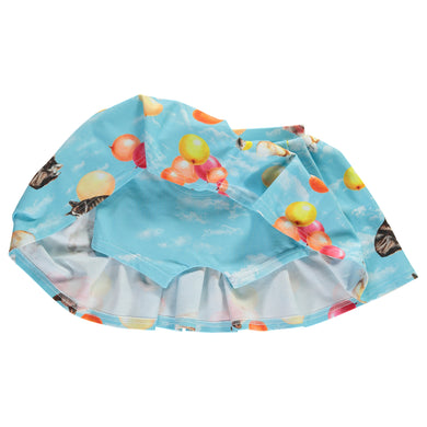 Corgi Balloons Skirt with sewn in shorts