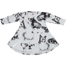Load image into Gallery viewer, Corgi Sketches Print Dress
