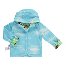 Load image into Gallery viewer, Reversible Jacket Corgi stripes (Green/Blue)