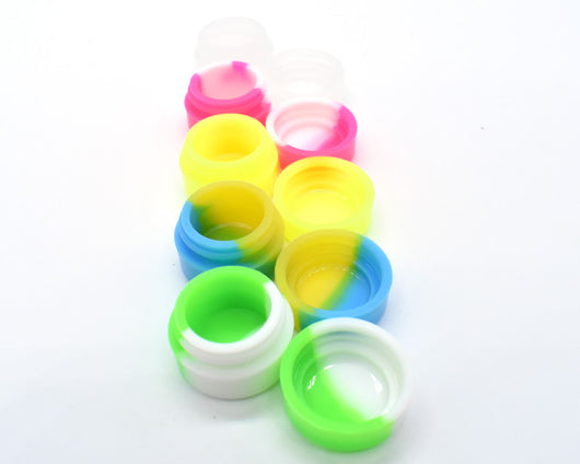 2mL Dab Container Silicone Jar 5 Pack – Multicolor - GreenWater Supply Co.