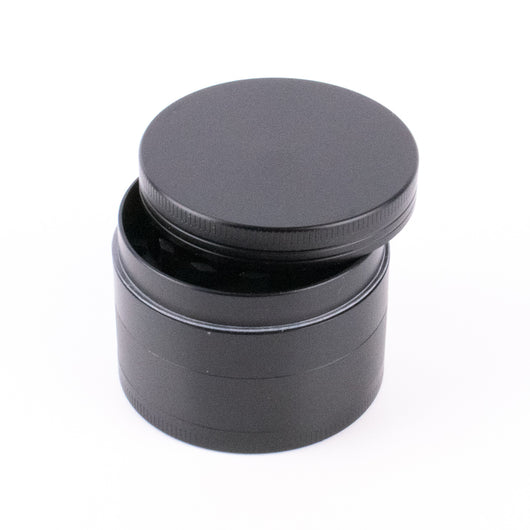 "Black Finish Herb Grinder 4 Layer 2"" Medium Size with Magnets - GreenWater Supply Co."