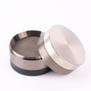 "3 Tone Silver Black Finish Herb Grinder 4 Layer 2.5"" with Magnets - GreenWater Supply Co."