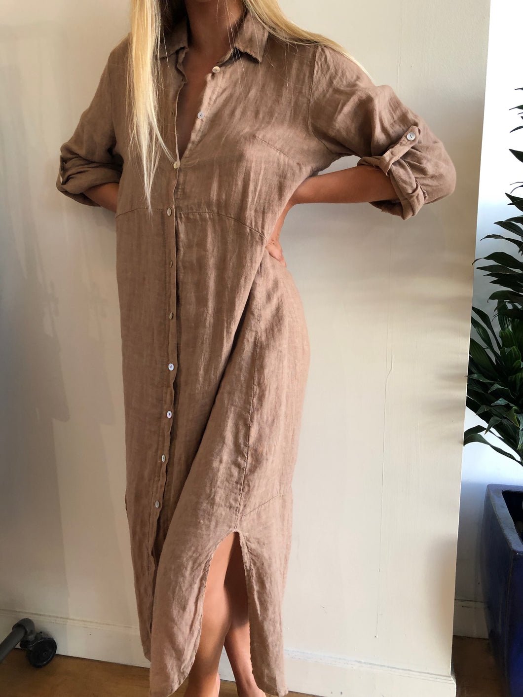 Chantel Linen Duster