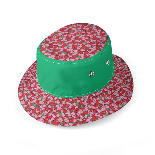 Pill print bucket hat