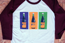 Load image into Gallery viewer, Bucky Bottle Print Baseball T