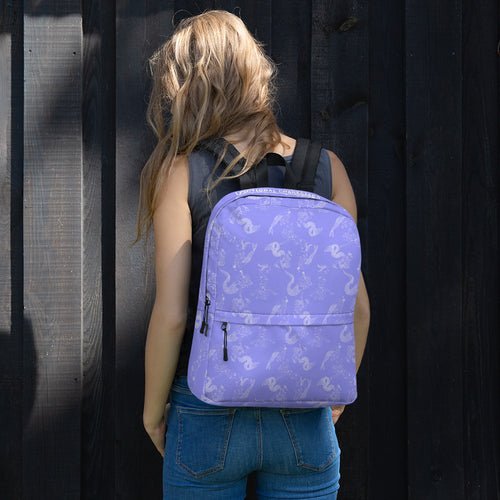 Drunken Mermaid Print Backpack