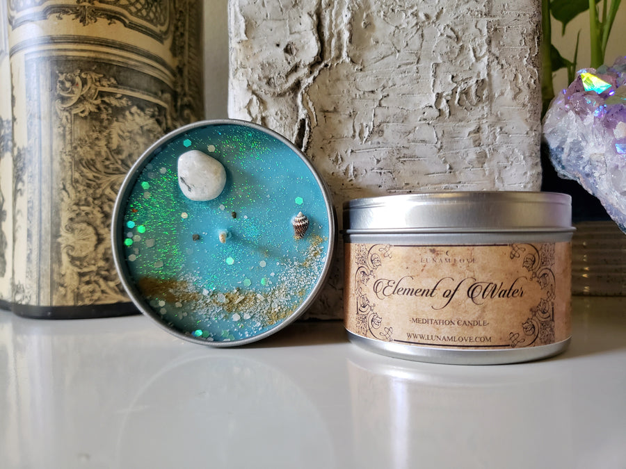 Element of Water Tin Candle
