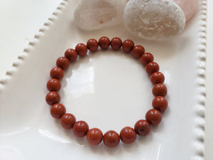 Red Jasper Crystal Stretch Bracelet