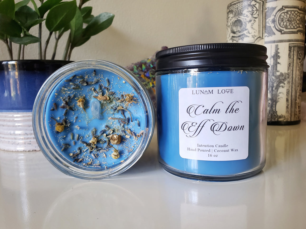 Calm the Eff Down Glass Candle 16 oz