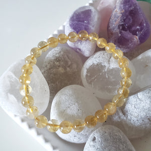 Citrine Crystal Bracelet, Stretch