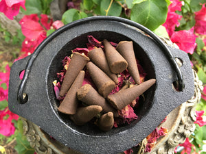 HONEY and ROSE Incense Cones // Pack of 10 // Love Incense // Incense //  Magick // Witchcraft // Ritual Products // Wicca // Pagan
