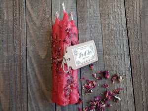 Fire of Love Candle Bundle ~ Set of 3 ~ Spell Candles ~ Ritual Candles ~ Love ~ Passion ~ Lust