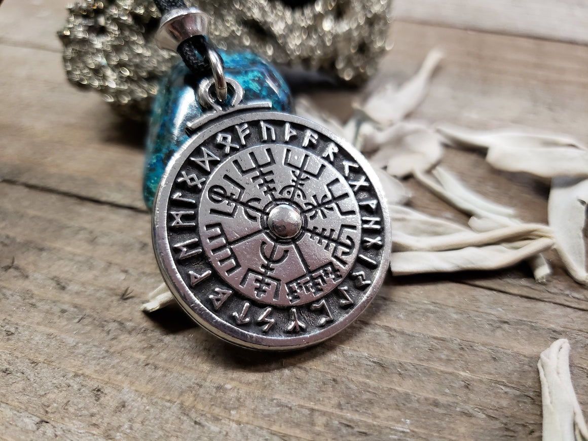 VIKING COMPASS Talisman Necklace //  Vegvisir // Made to Order