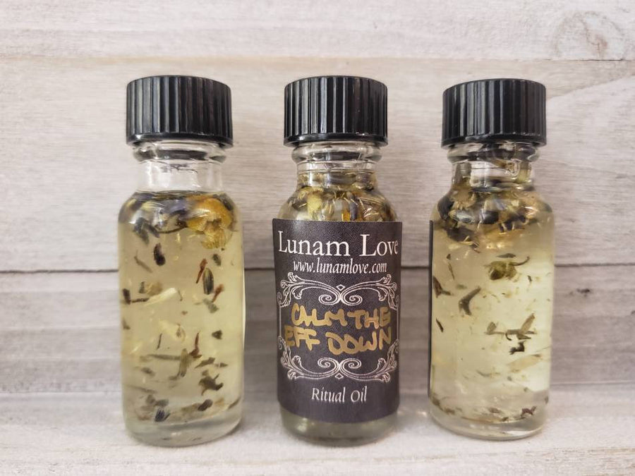 CALM the EFF DOWN Ritual Oil // Witchcraft // Witch // Metaphysical // Anointing Oil // Wicca // Pagan // Hoodoo // Conjure
